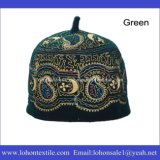Шлем молитве турецкого шлема мусульманский, исламский шлем празднества сделанный материалом шерстей 100% для человека
