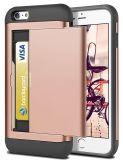 札入れの箱の帯出登録者のシェルの耐震性頑丈な保護擁護者は柔らかいゴム製豊富なカバーケースのiPhone 6 /6sを反スクラッチする