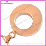 Verascht Ijd8197 Vergoldung-runde Edelstahl-Verbrennung-hängende Halskette Andenken-Halter-Urne-Schmucksachen