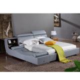 Кровать софы неподдельной кожи типа Кореи самомоднейшая для живущий мебели комнаты - Fb8155