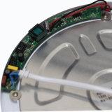 Tipo redondo luz del sensor de movimiento del panel del LED