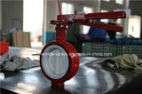 Válvula industrial da borboleta do forro da alavanca PTFE da mão (D71X-10/16)