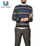 Lange Hülsen-gestreifte Baumwolloberseiten der Männer