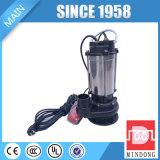Pompe à eau d'égout, pompe à moteur d'acier inoxydable