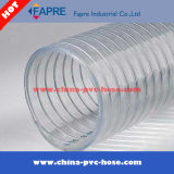 PVC de plástico de alambre de alambre de agua reforzada hidráulica de descarga industrial manguera de tubería