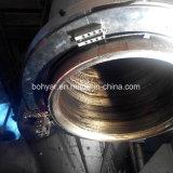 分割フレーム、油圧モータ(SFM3036H)で切断し、面取り機