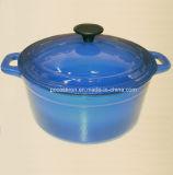 Cookware Casserole чугуна эмали с Dia 24cm крышки 28cm