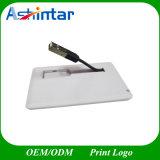 Driver di plastica del USB della scheda di nome di Pendrive del bastone del USB