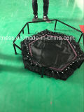 Adultos de 48 pulgadas hexagonal mini trampolín con T-Bar