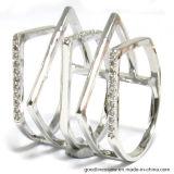 Новое кольцо серебра конструкции 2017 с скачками формой для американского рынка (R10599)