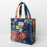 牧歌的な花パターンPVCキャンバスのショッピング・バッグ(2293-1)