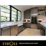 従来の白い無光沢のラッカーおよび木穀物のフルハウスのホーム家具Tivo-087VW