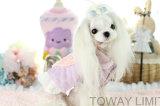 Cute Coral Velvet Dog Clothing Cotton Heart Lace Lady Pet Coat