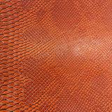 素晴らしいヘビの穀物袋のための総合的なPUの革、装飾、靴、家具(HS-Y45)
