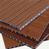 Material de aluminio del emparedado del panel del panal del color de madera