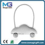 La fabbrica della Cina rende a rotazione il metallo in bianco Keytag con il marchio dell'incisione del laser