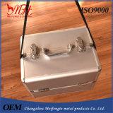 Caixa cosmética Multifunctional de liga de alumínio do único ombro, caixa de ferramentas