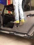 J257 Steel Black Door Hinges Foot Rest Pedal Peg pour Jeep Wrangler Jku