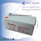 12V 200 Ah AGM de ciclo profundo de la batería para el sistema solar de UPS