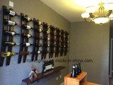 Het muur Opgezette Rek van de Wijn in Houder van de Fles van de Wijn van het Satijn de Zwarte Hangende