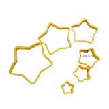 Los conjuntos de 6 pedazos de la herramienta de la hornada del molde de la galleta de la dimensión de una variable de la estrella para dar vuelta al molde de la torta del azúcar