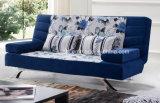 Sofá plegable del cuero de la función de la base de la sala de estar de 3 asientos (HX-AC057)