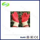 guante a medias cubierto de nylon del trabajo de la protección de la mano del nitrilo del trazador de líneas del poliester que cultiva un huerto 10g