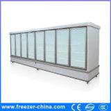 Frigoriferi utilizzati verticali del portello di vetro di scivolamento del supermercato commerciale