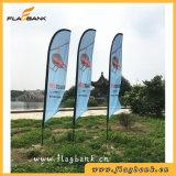 bandierina laterale singola di alluminio di pubblicità di volo di stampa di 4.5m/bandierina di spiaggia