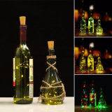 Шнур пробочки бутылки освещает батарею серебряного провода звёздную светлую - приведенные в действие света для украшения партии бутылки DIY рождества