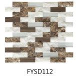 すばらしいデザイン壁のタイル(FYSSD084)の混合されたカラー石の大理石のモザイク・タイル