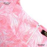 Alineada del cortocircuito del color de rosa de la impresión floral de las muchachas del precio bajo de Srta. You Ailinna 801867