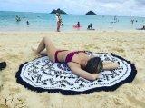 曼荼羅の円のビーチタオルの円形のトルコタオル