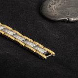 도매 남자의 자석 에너지 돌을%s 가진 사슬에 의하여 도금되는 금 색깔