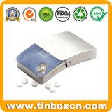 Deslizamiento Pequeño mini lata de menta, goma de diapositivas caja de la lata