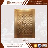 Puerta europea de la técnica del grabado de la puerta de entrada de doble de la puerta de sola entrada de la puerta del estilo de la manera de cobre 3D