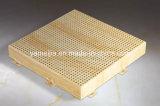 Panneaux ondulés d'aluminium enduit de rouleau pour les plafonds en aluminium perforés de plafonds