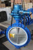 клапан-бабочка вафли электрического силового привода места 36 '' PTFE (D971X-10/16)