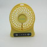 Mini USB ventilateur en plastique rechargeable tenu dans la main de Customied avec OEM (JR-FS001)