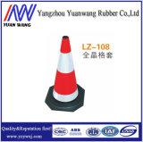 Base del nero del cono della strada di traffico del coperchio del reticolo quadrato con altezza 500mm