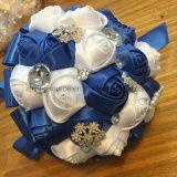 Kristallsatin-Rosen-Hochzeits-Blumenstrauss-Brautblumen-Blumenstrauß