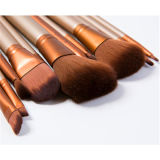 New 12PCS Maquillage Portable Brush avec Golden Box Nake3