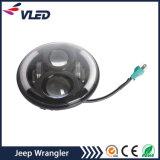 '' faisceau haut-bas de phare de DEL 7 avec la boucle de halo pour le Wrangler Tj Jk de jeep