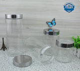 900ml-2264ml catégorie comestible transparente, choc cylindrique et large en verre de mémoire de bouche