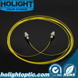 Шнур заплаты FC оптического волокна к желтому цвету FC 0.9mm Sm