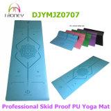 Лазер Honeyoga гравирует циновку йоги PU циновки йоги Mandala ориентированную на заказчика