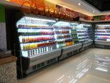 La glace a dégrossi réfrigérateur avec l'éclairage LED et le rideau aérien