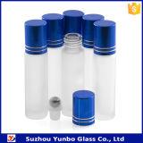 roulis 10ml sur la bouteille en verre bleue avec la boule de commande en verre/acier inoxydable en plastique/