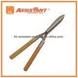 Инструменты сада выковали волнистые ножницы изгороди лезвия с деревянными ручками