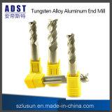 Edvt 3fluteの切削工具のCNC機械のためのアルミニウム端製造所